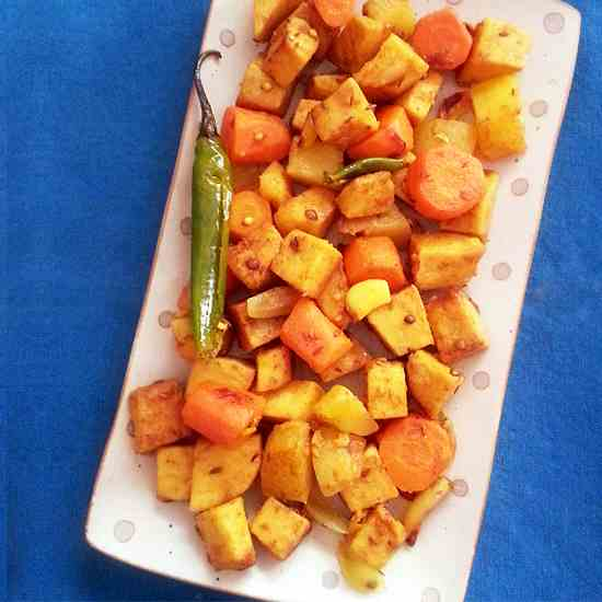 Yam, Carrot and Potato Medley