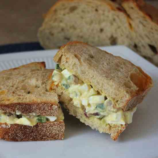 Easter Egg Salad with Bacon and Jalapeno