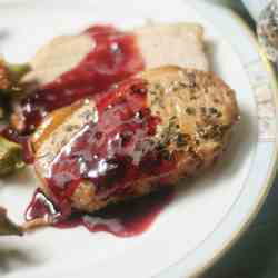 Pork Loin w/ Red Currant Sauce