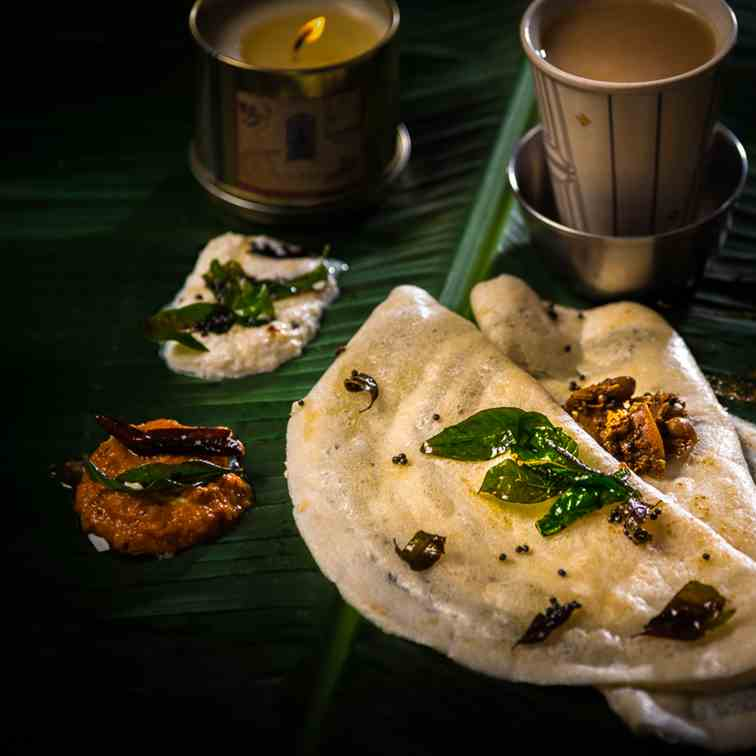 Gluten Free Homemade Rice Dosa Or Pancakes