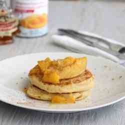 Buttermilk Pancakes with Peach