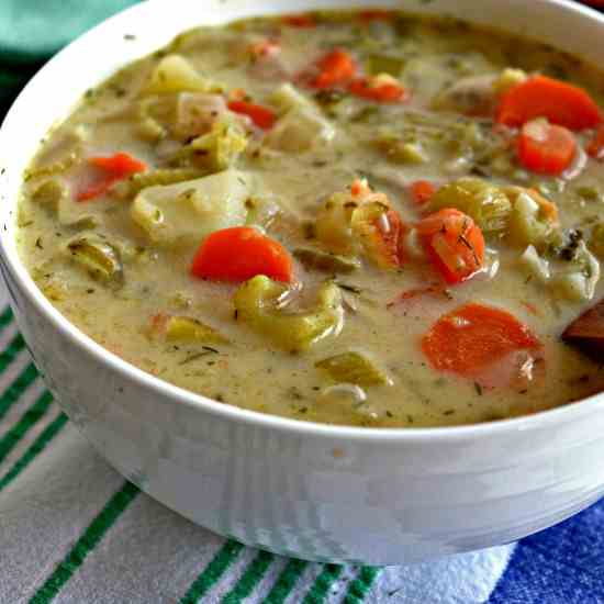Creamy Dill Pickle Soup