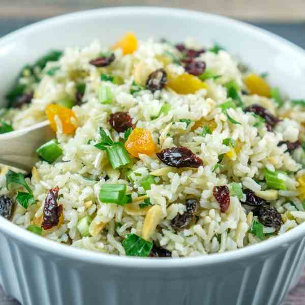 Rice Salad with Nuts - Dried Fruit