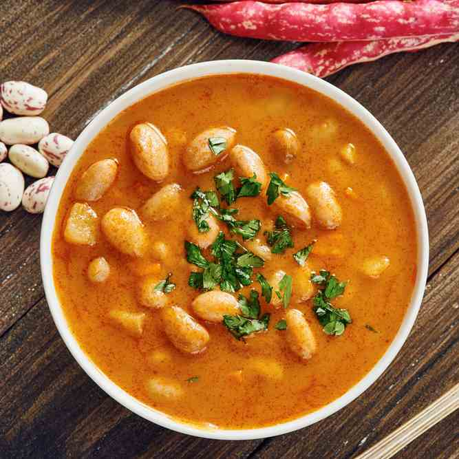 Tangy Sweet Potato - Cannellini Bean Soup