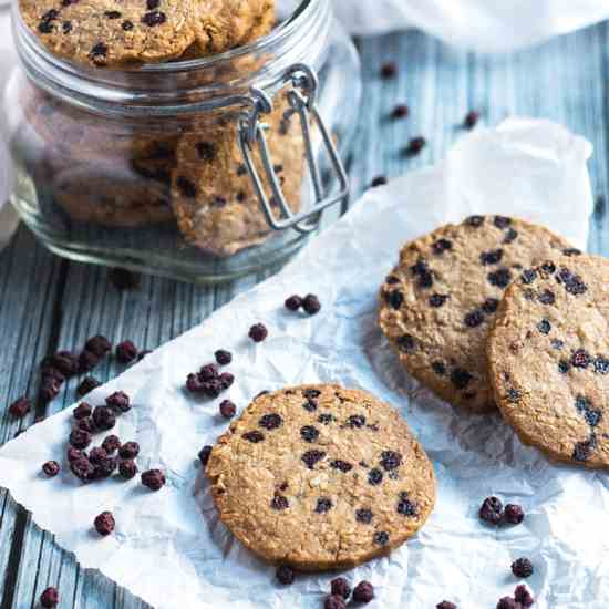 Gluten Free Blueberry - Ginger Cookies