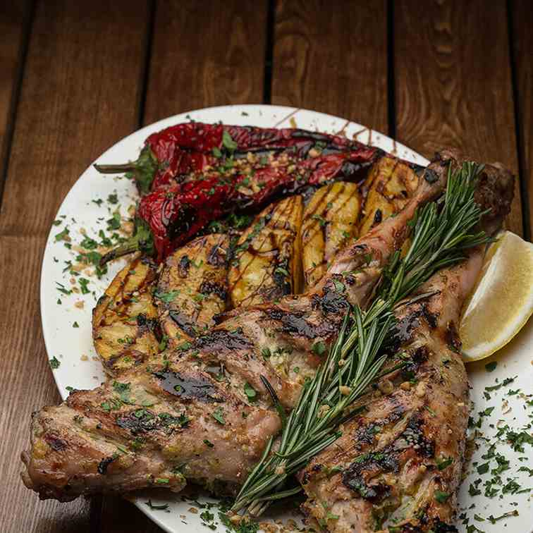 Leg of Lamb with rosemary, honey and lemon