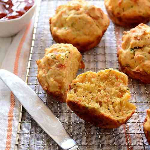 Spiced Red Carrot Muffins