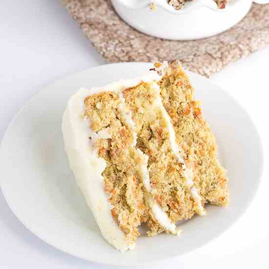 Pineapple Carrot Cake with Cream Cheese Fr