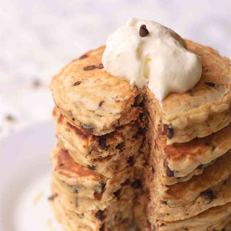 Chocolate Chip - Toasted Coconut Pancakes