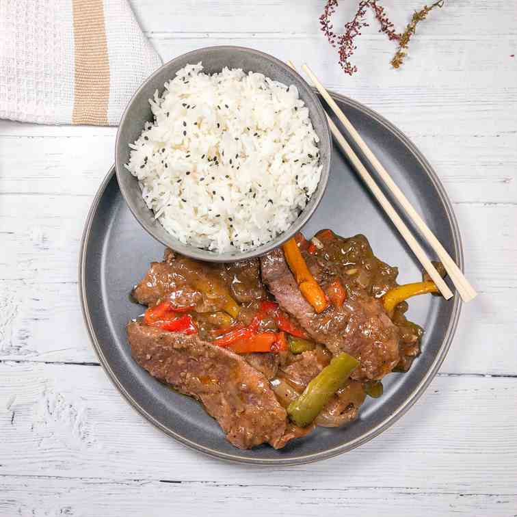 Oven Pepper Steak