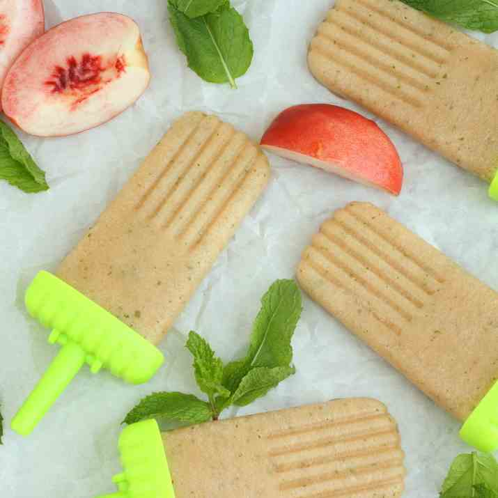 Peach Ginger Mint Popsicles