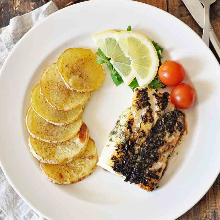 Garlic Herbed Spanish Cod