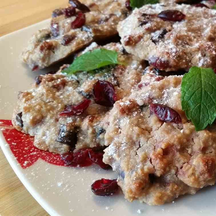 Oat, Almond and Cranberry Cookies
