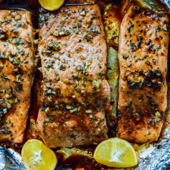 Spicy Garlic Salmon