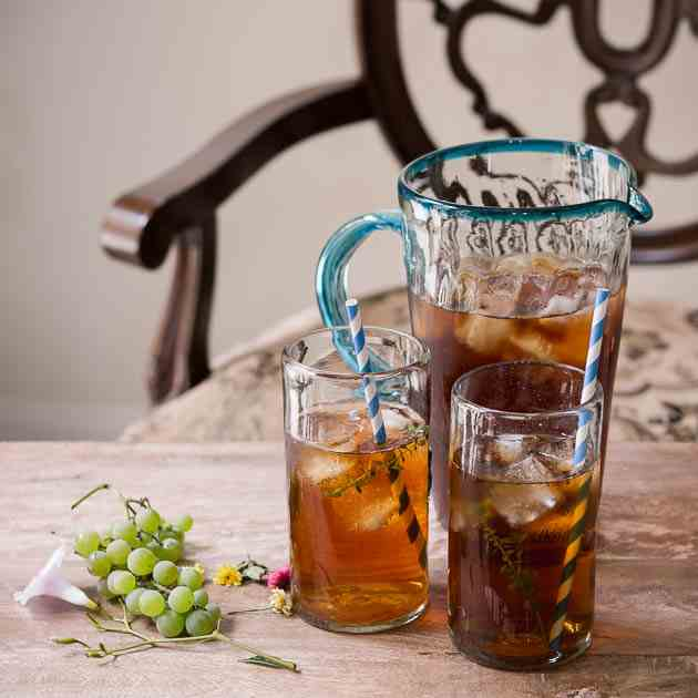 Lemon Thyme Infused Iced Tea