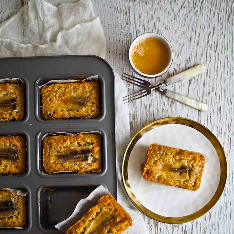 Baby Caramelised Banana Breads