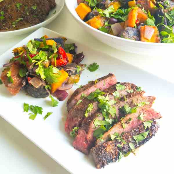 Spice Crusted Grilled Flank Steak