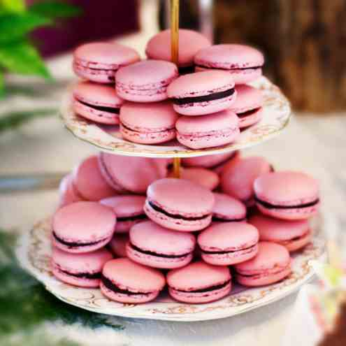 Pink Wedding Macarons with Photo Tutorial!