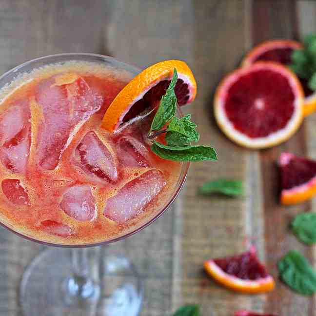 No-Stress Blood Orange Spritzer (with Magn