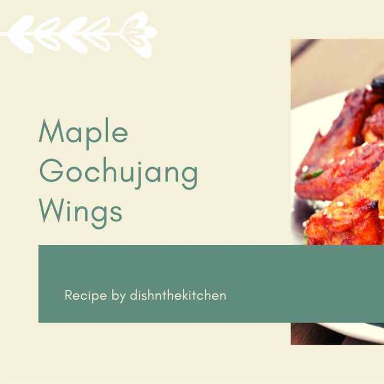 Korean Maple Gochujang Wings