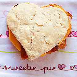 Heart Shaped Breakfast Sandwich