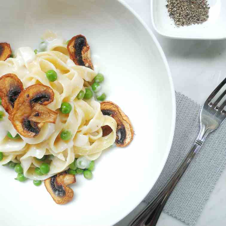 Tagliatelle with Roasted Mushrooms