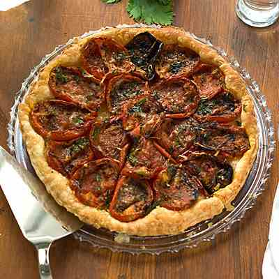 Flaky Roasted Tomato and Parmesan Tart