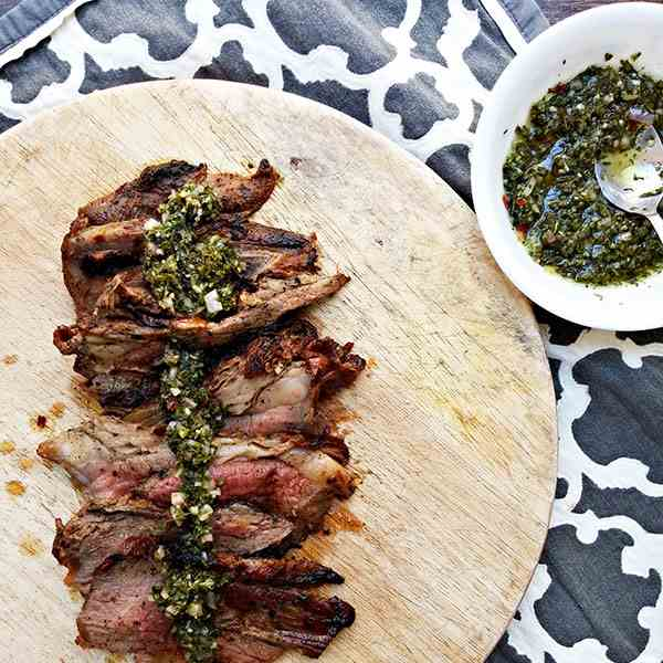 Roasted tri-tip with chimichurri
