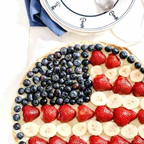 Red, White - Blue Fruit Tart Recipe
