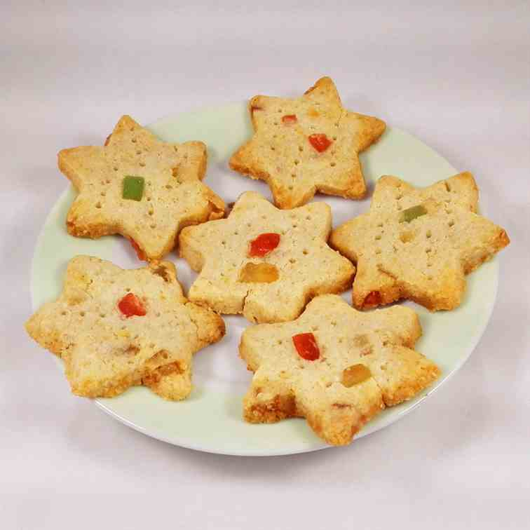 Vegan Christmas Shortbread Cookies
