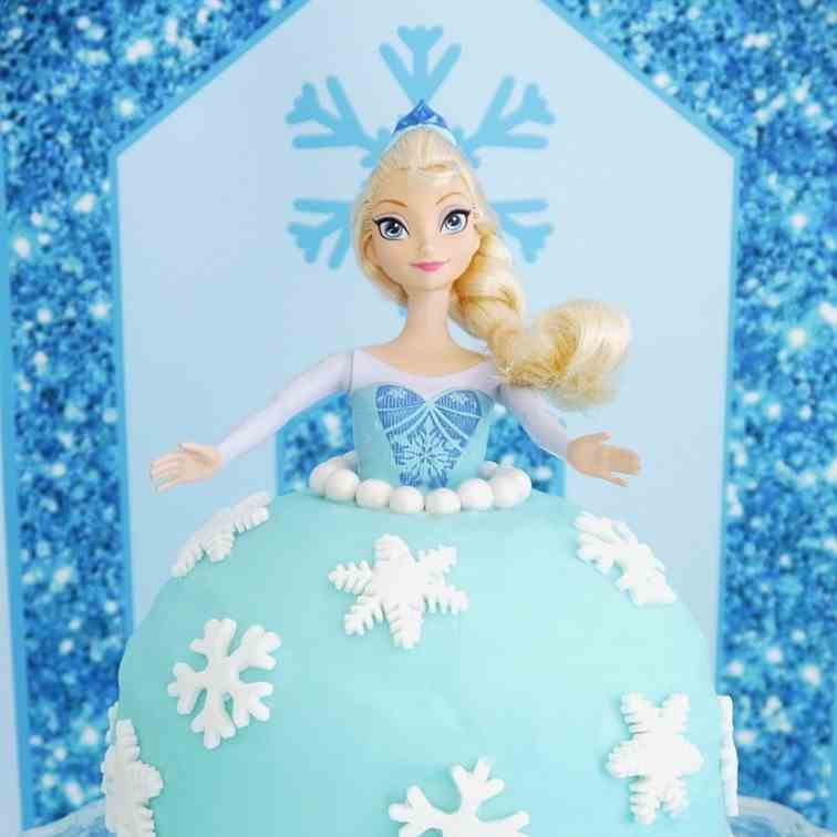 Elsa Doll Birthday Cake