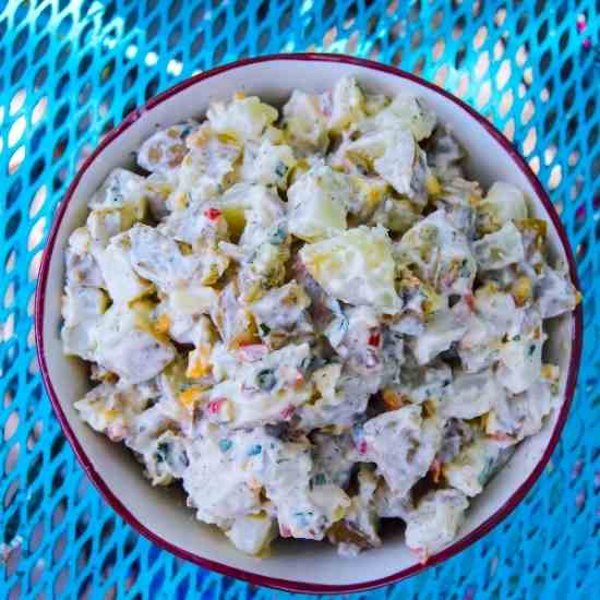 Pepper and Cornichon Potato Salad