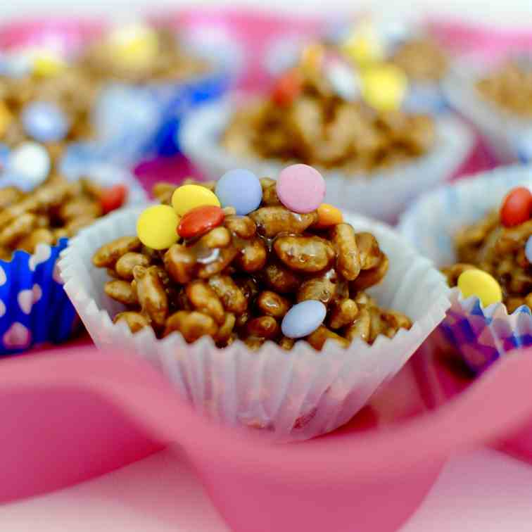 No-bake Chocolate Rice Krispie Cupcakes