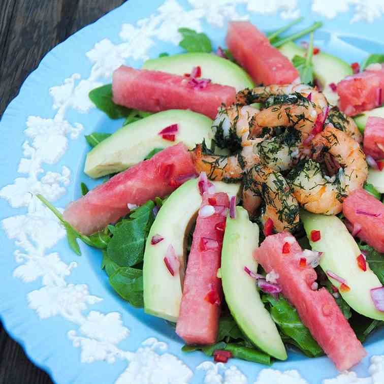 Watermelon And Prawn Salad-