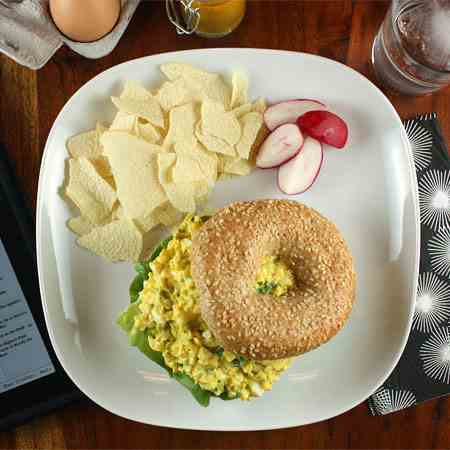Egg Salad Bagel (or Sandwich)