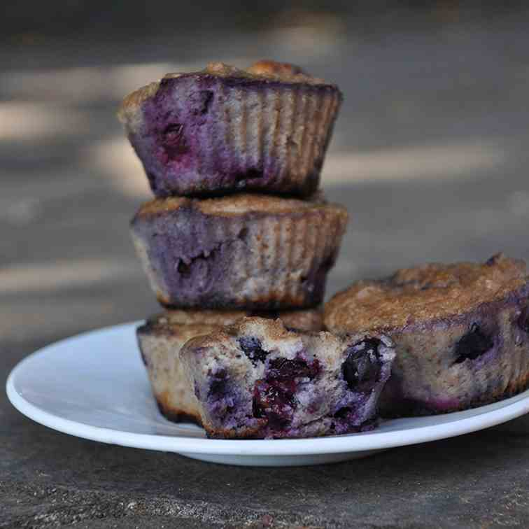 Healthy Paleo Blueberry Cupcakes