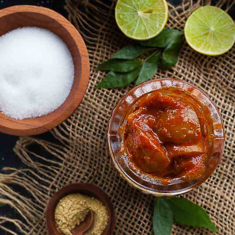 south indian lime pickle
