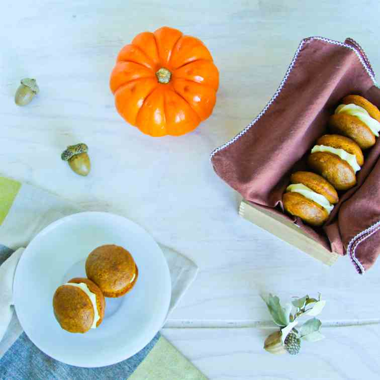 Pumpkin Spiced Whoopies with Cream Cheese