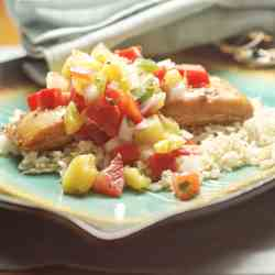 Ginger Soy Fish w/ Pineapple Salsa