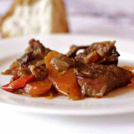 Meat with dried mushrooms