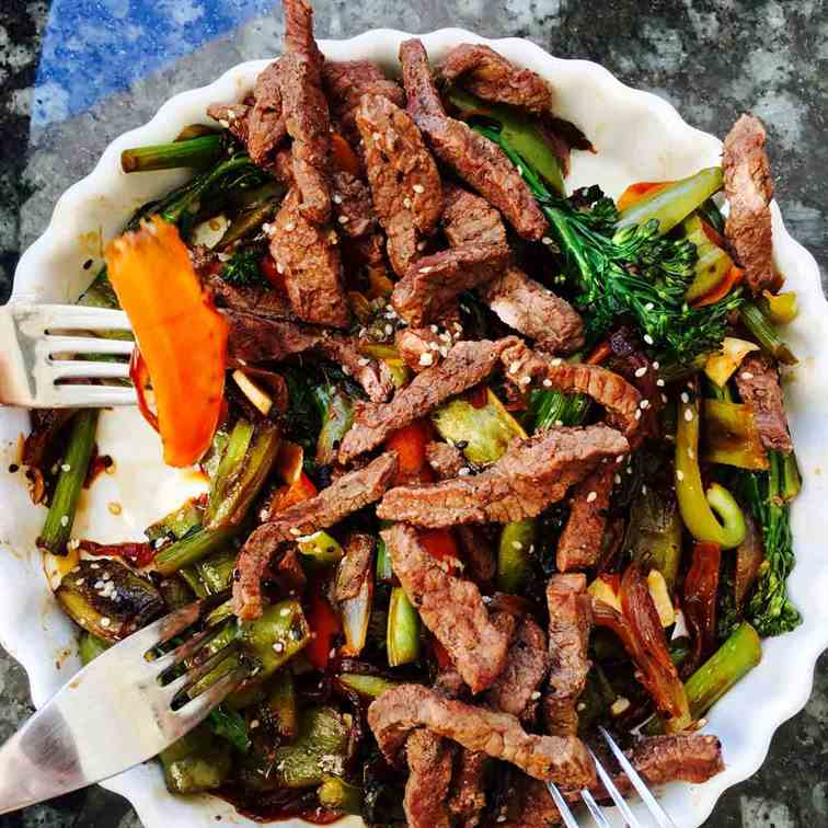 Tenderstem broccoli and buffalo hoisin