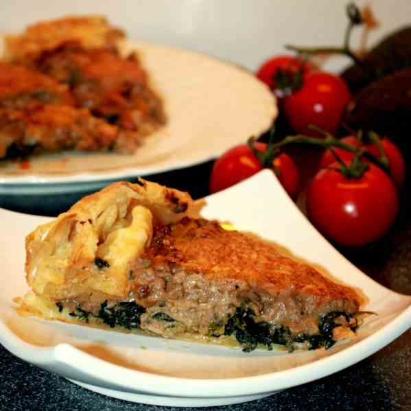 Minced Meat and Spinach Pie