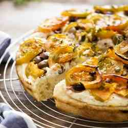 Focaccia with ‪‎Sardinian‬ tomatoes