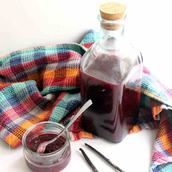 Raspberry Blackberry Vanilla Syrup