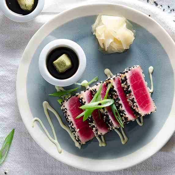 Seared Ahi Tuna with Wasabi Mayo