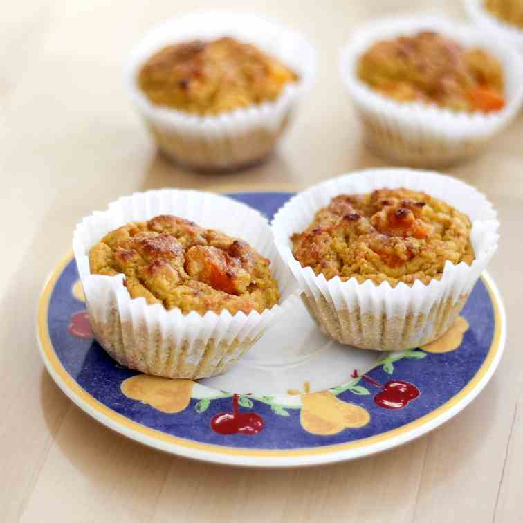 Apricot Almond Low Carb Muffins