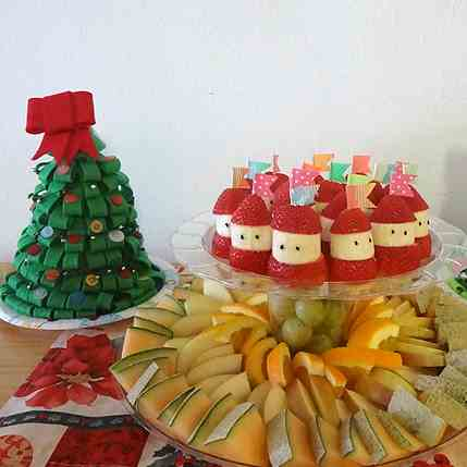 Christmas party fruit tray