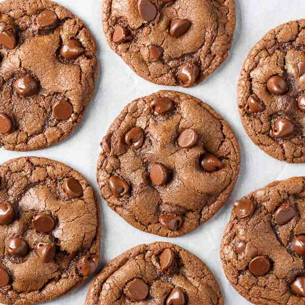 Double Chocolate Chip Nutella Cookies