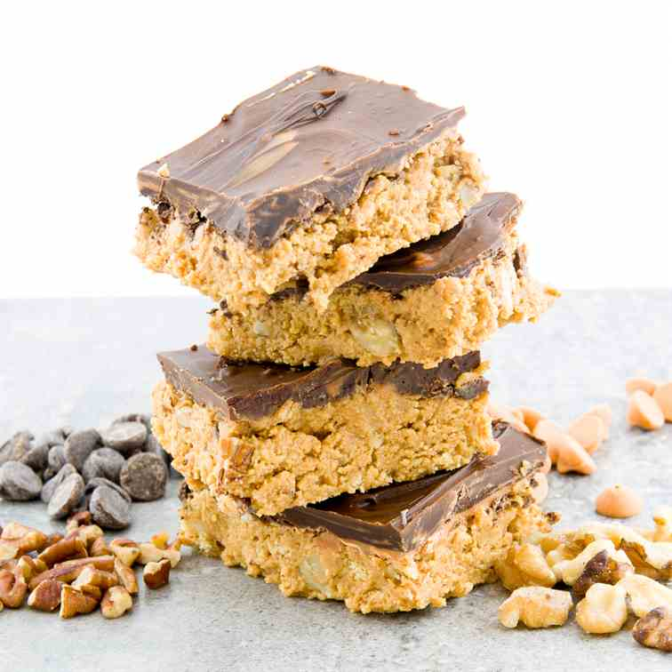 Chocolate Butterscotch Nut Bars-