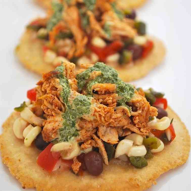 Spicy Chicken Tostaditos